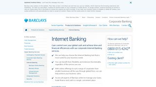Corporate Internet Banking Services | Barclays