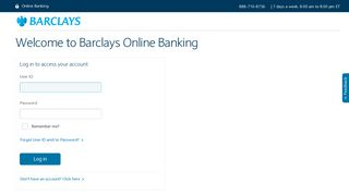 Barclays - Welcome to Barclays Online Banking