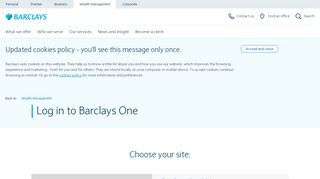 Log in to Barclays One | Wealth Management | Barclays