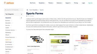 Sports Forms - Form Templates   JotForm