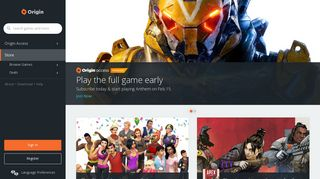 Origin   Platform Packed with Great PC Games   Origin