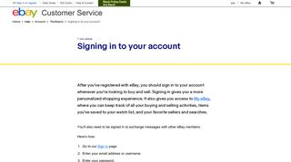 Signing in to your account   eBay