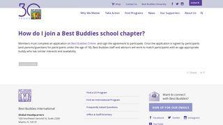 How do I join a Best Buddies school chapter? - Best Buddies ...