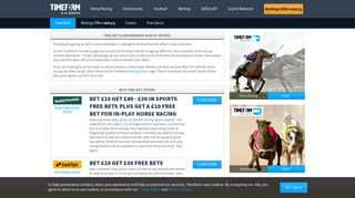Free Bets & Bookmaker Sign Up Bonuses - Exclusive Offers at Timeform
