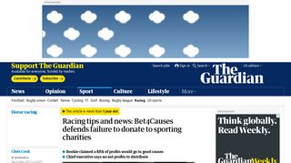 Racing tips and news: Bet4Causes defends failure to donate to ...