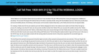 How to Login telstra Bigpond webmail account? Bigpond Email Login ...