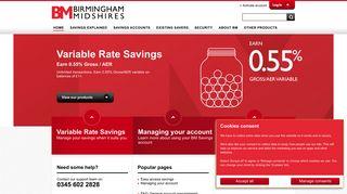 Birmingham Midshires | Saving accounts