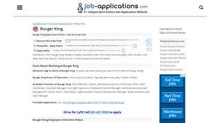 Burger King Application: Jobs & Careers Online - Job-Applications.com