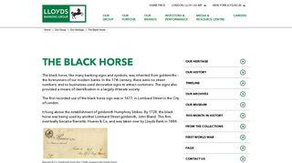 The Black Horse - Lloyds Banking Group plc