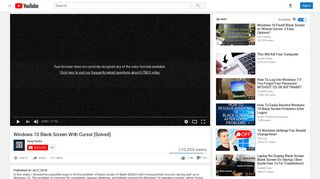 Windows 10 Black Screen With Cursor [Solved] - YouTube