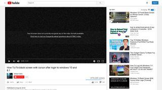 How To Fix black screen with cursor after login to windows 10 and 8.1 ...