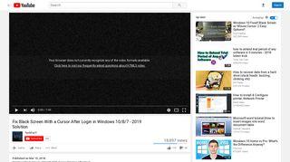 Fix Black Screen With a Cursor After Login in Windows 10/8/7 - 2019 ...