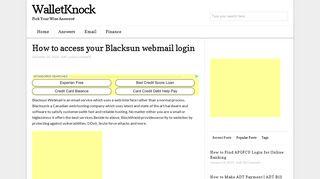 How to access your Blacksun webmail login - www.blacksun.ca