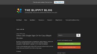 log in   The Blippit Blog - blippit app maker