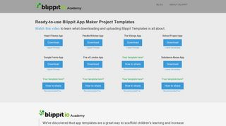 Blippit Academy - Ready to Use Resources for Blippit's App Maker
