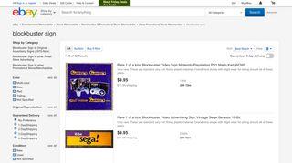 blockbuster sign | eBay