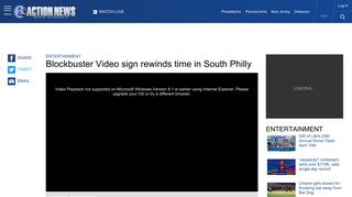 Blockbuster Video sign rewinds time in South Philadelphia | 6abc.com