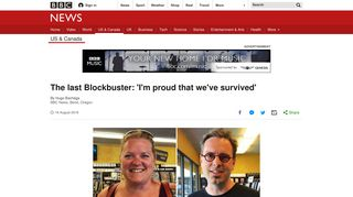 The last Blockbuster: 'I'm proud that we've survived' - BBC News
