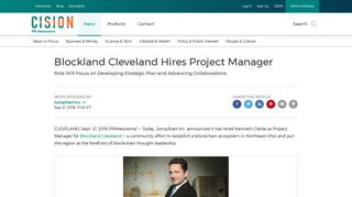 Blockland Cleveland Hires Project Manager - PR Newswire