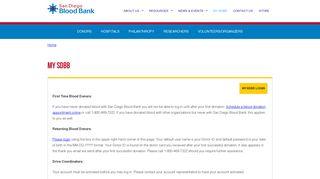 My SDBB | San Diego Blood Bank