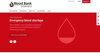 Blood Bank of Delmarva: Home