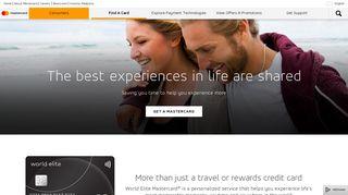 World Elite Mastercard Credit Card & Travel Benefits