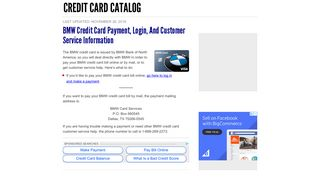 BMW Credit Card Payment, Login, and Customer Service Information ...