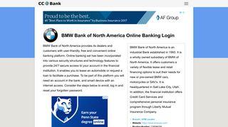 BMW Bank of North America Online Banking Login - CC Bank