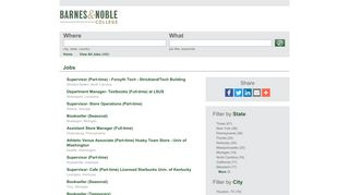 Barnes & Noble College Booksellers Jobs