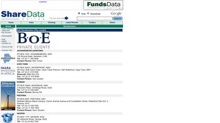 BoE Stockbrokers - Profile's ShareDataOnline