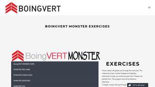 BoingVERT Monster Exercises – BoingVERT