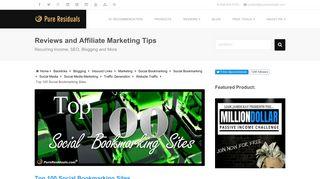 Top 100 Social Bookmarking Sites - Pure Residuals