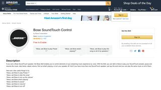 Amazon.com: Bose SoundTouch Control: Alexa Skills