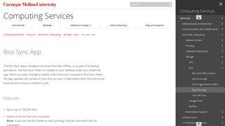 Box Sync App - Computing Services - Carnegie Mellon University