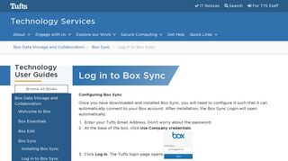 Log in to Box Sync | Technology Services