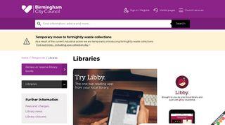 Libraries   Birmingham City Council