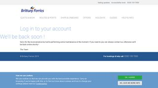 My account - Brittany Ferries