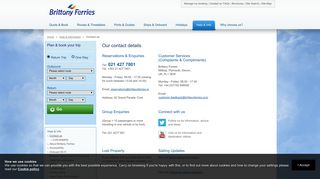 Our contact details - Brittany Ferries