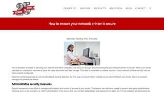 How to ensure your network printer is secure - Brock Office Automation