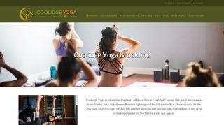 Our Brookline Studio | Coolidge Yoga | Brookline, MA