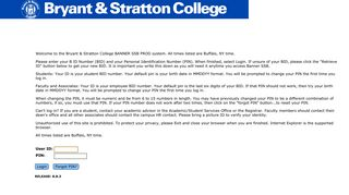 User Login - Bryant & Stratton College