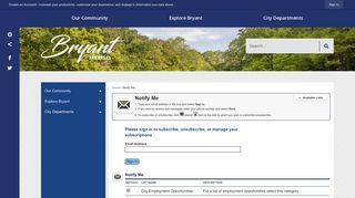 Notify Me® Sign Up For City Updates - Bryant, AR - Official Website