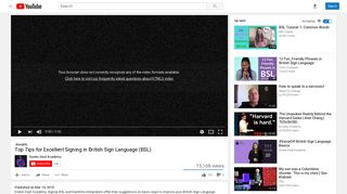 Top Tips for Excellent Signing in British Sign Language (BSL) - YouTube
