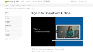 Sign in to SharePoint Online - SharePoint - Office Support - Office 365