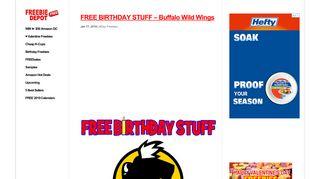 FREE BIRTHDAY STUFF – Buffalo Wild Wings | Freebie Depot