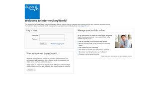 Welcome to IntermediaryWorld - Login - Bupa Global