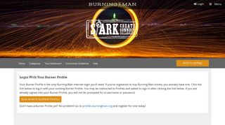 Login - Spark   Burning Man Collaboration