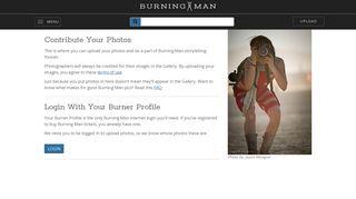 Login With Burner Profile   Burning Man Photos - Burning Man Gallery
