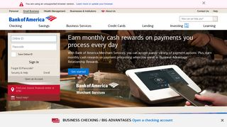 Small Business Banking Accounts and Services from Bank of America