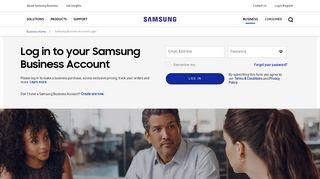 Samsung Business Account Login   Samsung Business